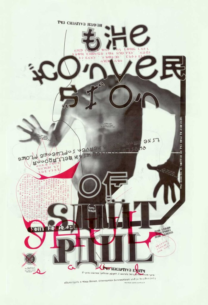 """The Conversion of St. Paul Poster Front by Elliott Earls. 24x36"""" Offset Litho, 1995."""