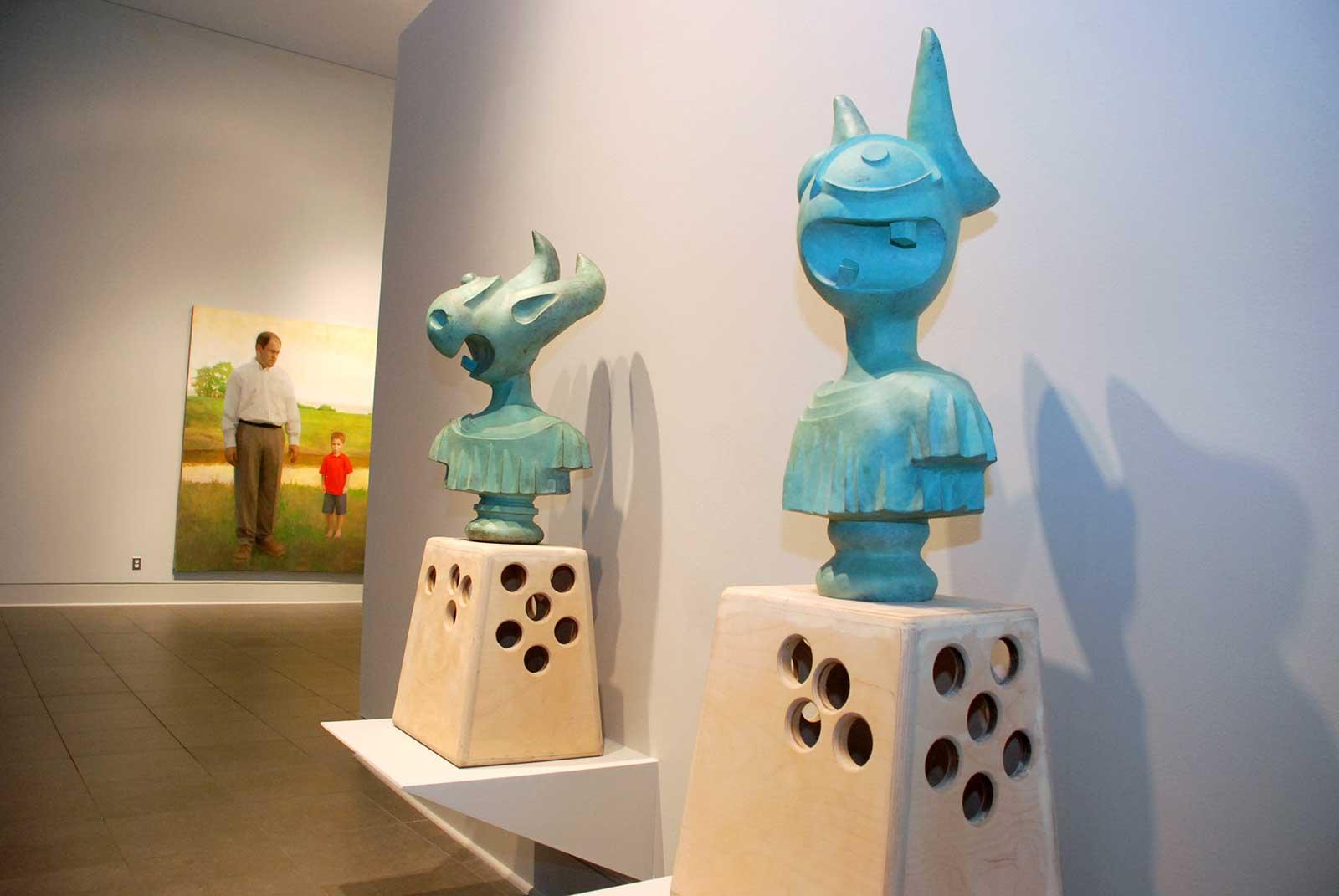 Elliott Earls Bronze Busts at Flint Institute of the Arts