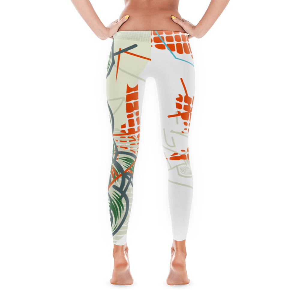 """Front View of """"The Complete Loss of Subjective Self-Identity"""" Inspired Leggings"""
